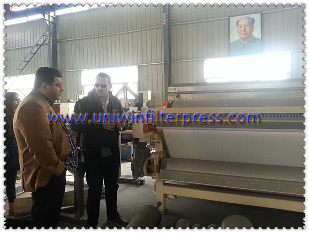 filter press dubai clients visited our factory