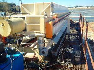 copper tailings membrane filter press