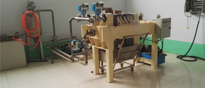 filter press for testing