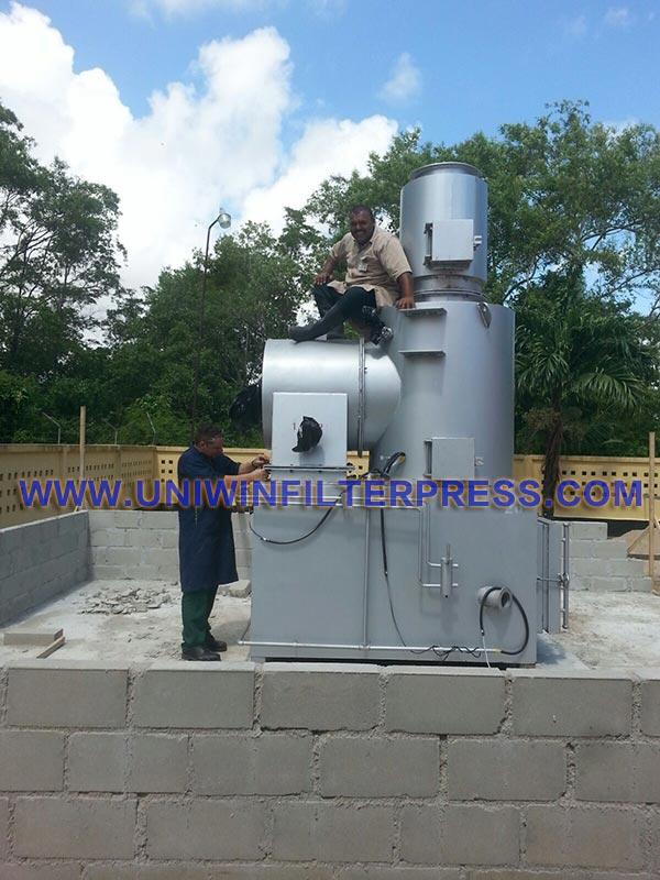 waste incinerator install